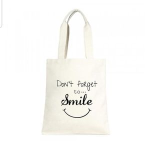 COMING Don't Forget To Smile Tote